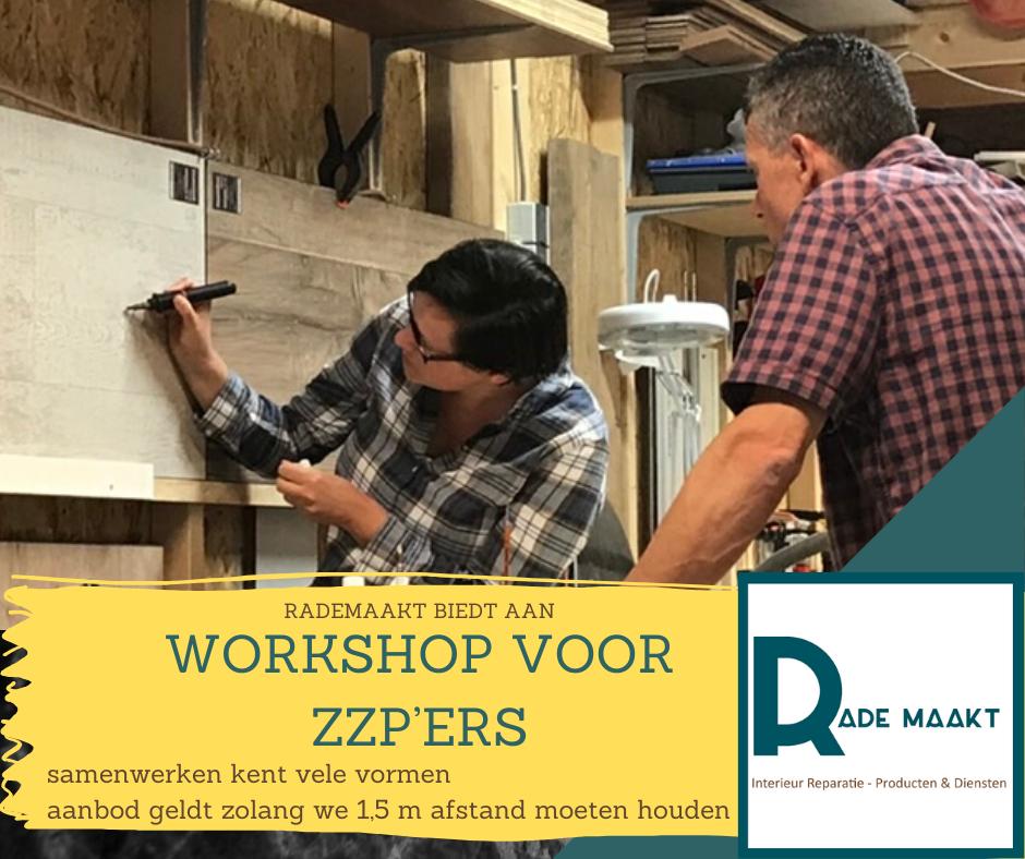 Speciaal workshops voor de zzp'er